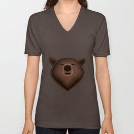 Camouflage gradient bear selfie Unisex V-Neck