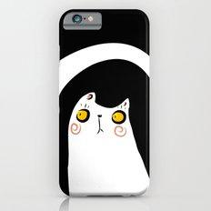 Dark Night White Cat iPhone 6s Slim Case
