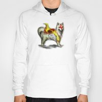 okami Hoodies featuring Okami dog by Adaildo Neto