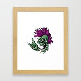 Punk zombie Framed Art Print