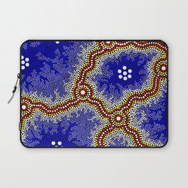 Aboriginal Art Authentic – Water Wetlands Laptop Sleeve