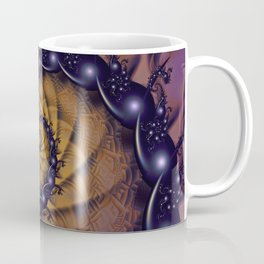 An Emperor Scorpion's 1001 Fractal Spiral Stingers Coffee Mug