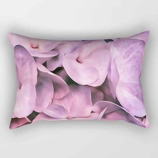 Hydrangea Beauty Pink Rectangular Pillow