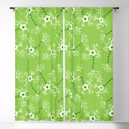 Green Neurons Blackout Curtain