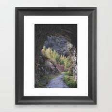 The Cave. Retro Framed Art Print