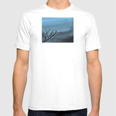 Hunted Branch Mens Fitted Tee White MEDIUM