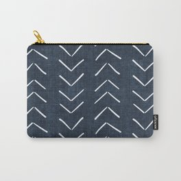 Mud Cloth Big Arrows in Navy Carry-All Pouch