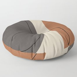 Modern Abstract Shapes #2 Floor Pillow