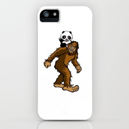 Gone Squatchin with Panda iPhone Case