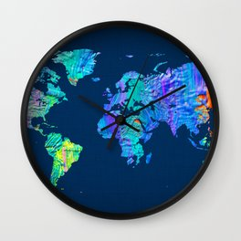 World Map 17 Wall Clock