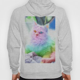 Unicorn Rainbow Cat Hoody