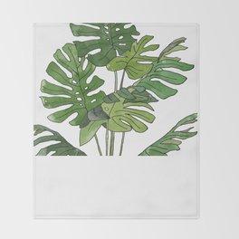 Philodendron Selloum Throw Blanket