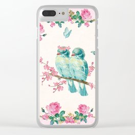 Love birds Clear iPhone Case