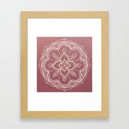 Gothic Mandala -Dusty Rose Framed Art Print