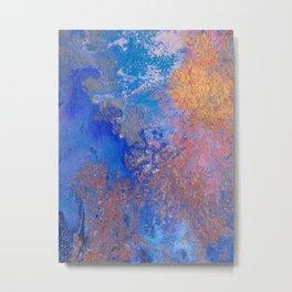 Frolicking in ultramarine abstract Metal Print