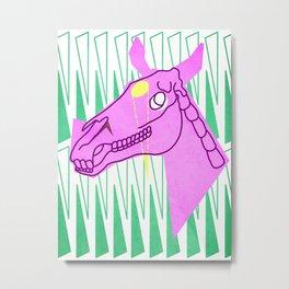 Inverted Horn Unicorn Metal Print