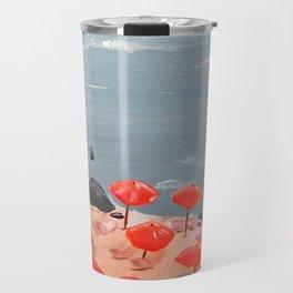 Orange Umbrellas Travel Mug