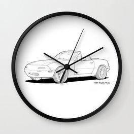 Mazda MX-5 Miata MK1 Line Illustration Wall Clock