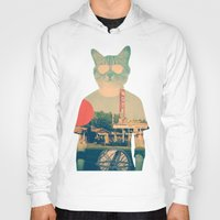 cat coquillette Hoodies featuring Cool Cat by Ali GULEC