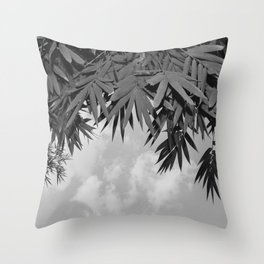 Bamboo By The Pool Throw Pillow