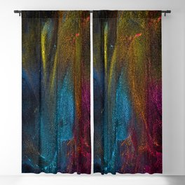 Colorful Brush Strokes Painting Blackout Curtain