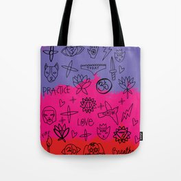 Doodle Mat Splatter Tote Bag