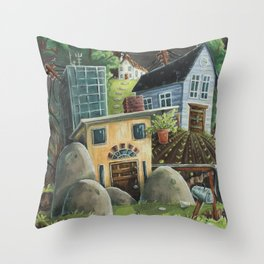 Isolated Chaos Throw Pillow