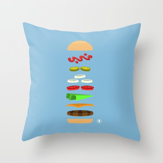 Chz Brgr Throw Pillow