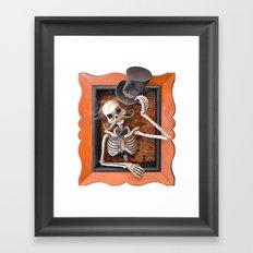 Rucus Studio Gentleman Skeleton Framed Art Print