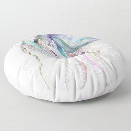 Octopus soft gray violet, turquoise soft colored octopus design beautiful octopus decor Floor Pillow
