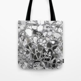 Silver Mirrored Mosaic Tote Bag