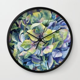 """Forest hydrangea"" Wall Clock"