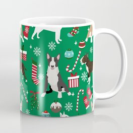 Bull Terrier christmas holiday pet pattern stockings presents dog breed gifts Coffee Mug
