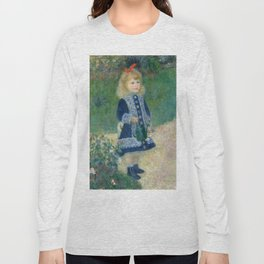Auguste Renoir A Girl with a Watering Can 1876 Painting Long Sleeve T-shirt