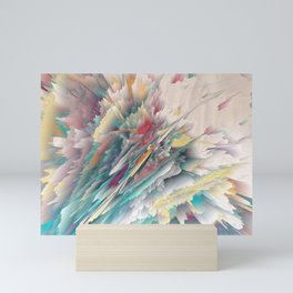 Rainbow Shards - Abstract Art by Fluid Nature Mini Art Print