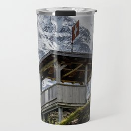 Swiss Observation Tower and Monch (Monk) Mountain - Lauterbrunnen Travel Mug