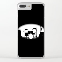 Half Tone Rock Band Poster Clear iPhone Case