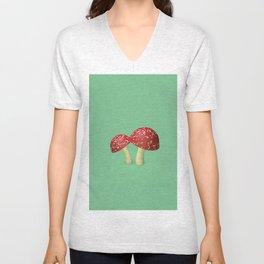 Little Mushrooms Unisex V-Neck