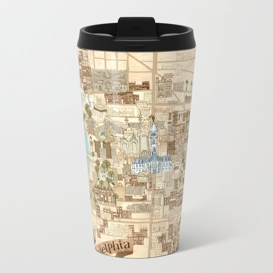 The City of Philadelphia Metal Travel Mug