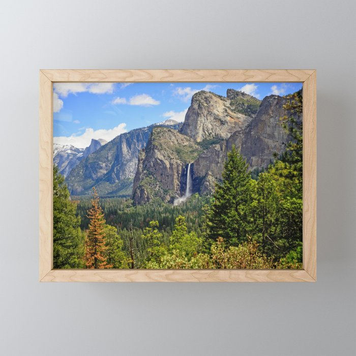 Bridaveil Falls Framed Mini Art Print