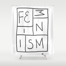 Intersectional Feminism Shower Curtain