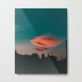 Sunset Lonely Cloud Metal Print