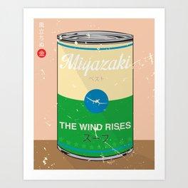 The wind rises- Miyazaki - Special Soup Series  Art Print