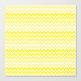 Yellow Ombre Chevron Canvas Print
