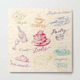 Chef Food Coffee Wine Metal Print