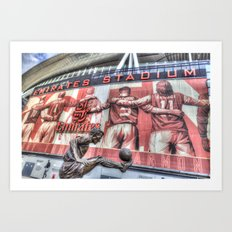 Dennis Bergkamp Statue Emirates Stadium Art Print