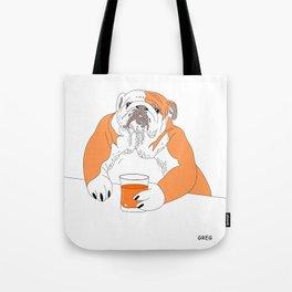 dog drink whisky Tote Bag