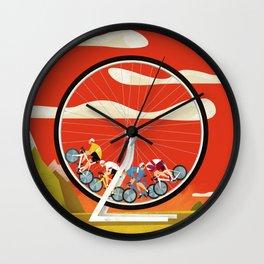 Road Cycling Race Hamster Wheel Challenge Wall Clock