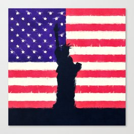 Patriotic American Flag Canvas Print