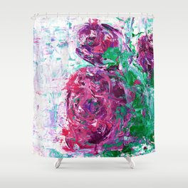 Pink and purple roses Shower Curtain